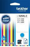 BROTHER LC525XLC Tintapatron DCP-J100, J105 nyomtatókhoz, BROTHER, cián, 1300 oldal