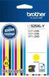 BROTHER LC525XLY Tintapatron DCP-J100, J105 nyomtatókhoz, BROTHER, sárga, 1300 oldal