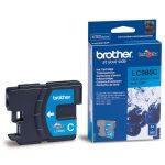 BROTHER LC980C Tintapatron DCP 145C, 165C, MFC 250C nyomtatókhoz, BROTHER, cián, 260 oldal