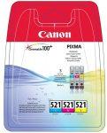 CANON CLI-521KIT Tintapatron multipack Pixma iP3600, 4600 nyomtatókhoz, CANON, c+m+y, 3*9ml
