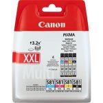 CANON CLI-581MPXXL Tintapatron multipack Pixma TS7550, 8150, 9150 nyomtatókhoz, CANON, b+c+m+y, 46,8ml