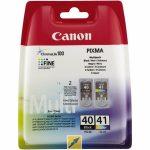 CANON PG-40/CL-41 Tintapatron multipack  Pixma iP1300, 1600, 1700 nyomtatókhoz, CANON, fekete,színes, 16ml+12ml