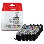 CANON PGI580/CLI581 Tintapatron multipack Pixma TS7550, 8150, 9150 nyomtatókhoz, CANON, pgb+b+c+m+y, 18,5ml+4*8,3ml