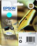 EPSON T16224010 Tintapatron Workforce WF2540WF nyomtatóhoz, EPSON, cián, 3,1ml