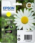 EPSON T18044010 Tintapatron XP 30, 102, 202, 205 nyomtatókhoz, EPSON, sárga, 3,3ml