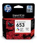 HP 3YM74AE Tintapatron DeskJet Plus Ink Advantage 6075 All-in-One nyomtatóhoz, HP 653, c+m+y, 200 oldal