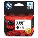 HP CZ109E Tintapatron Deskjet Ink Advantage 3520 sor nyomtatókhoz, HP 655, fekete, 550 oldal