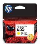 HP CZ112E Tintapatron Deskjet Ink Advantage 3520 sor nyomtatókhoz, HP 655, sárga, 600 oldal