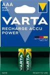 """VARTA Tölthető elem, AAA mikro, 2x800 mAh, előtöltött, VARTA """"Power"""""""