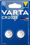 VARTA Gombelem, CR2025, 2 db, VARTA