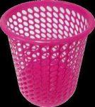 Papír kosár HOME DECOR műanyag 27x25x19 cm henger forma 11 literes rózsaszín