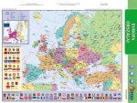 """STIEFEL Tanulói munkalap, A4, STIEFEL """"Európa domborzata/Európa vaktérképpel"""